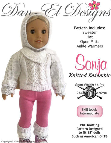 "Sonja 18"" Doll Knitting Pattern"