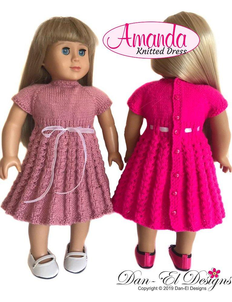 Dan-El Designs Amanda Doll Clothes Knitting Pattern 18 ...