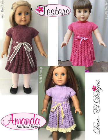 "Amanda 18"" Doll Knitting Pattern"