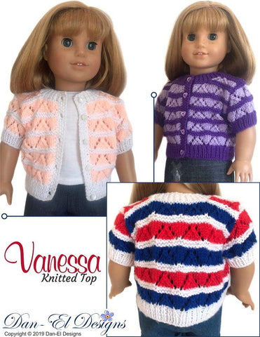 "Vanessa 18"" Doll Knitting Pattern"
