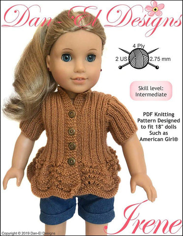 "Irene 18"" Doll Knitting Pattern"