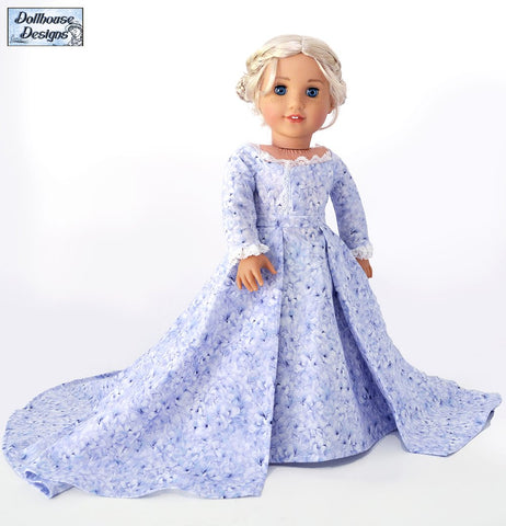 "A Regal Celebration 18"" Doll Clothes Pattern"