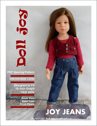 "Joy Jeans 19"" Gotz® Doll Clothes Pattern"