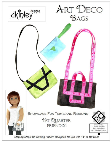"Art Deco Bags Accessory Pattern for 14-18"" Dolls"