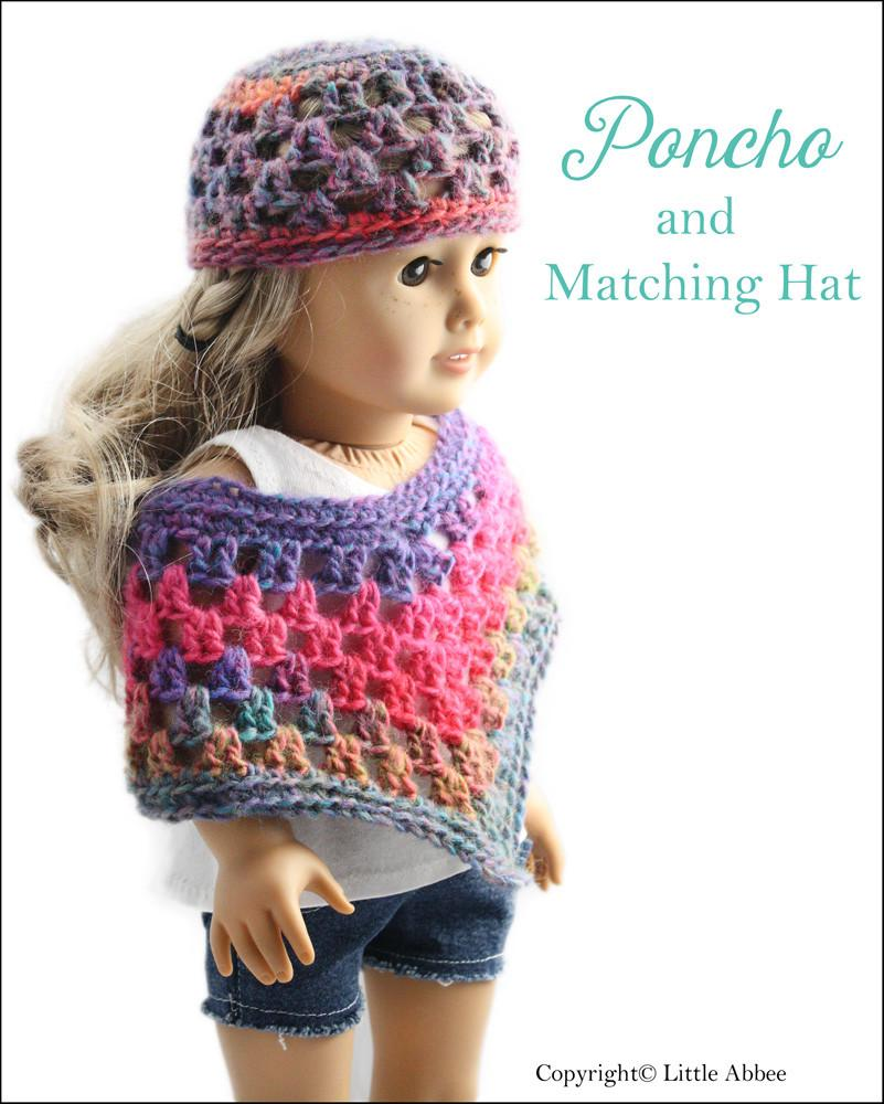 Little Abbee Doll Poncho Doll Clothes Pattern 18 Inch