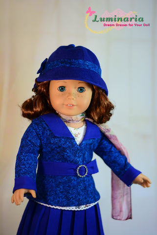 "1930's Sleuth 18"" Doll Clothes Pattern"