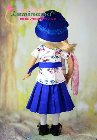 PDF sewing pattern dress, pinafore, hat stockings designed to fit Little Darling Dolls