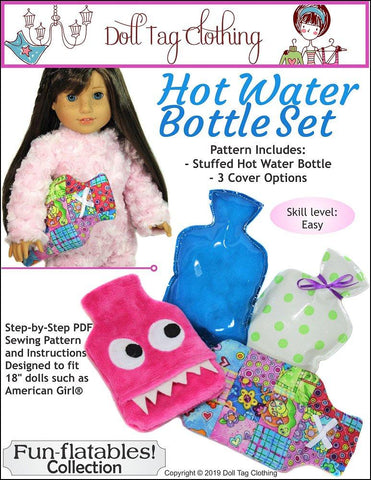 "Hot Water Bottle 18"" Doll Accessory Pattern"