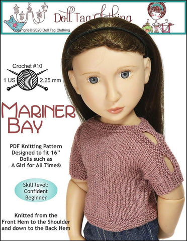 "Mariner Bay Knitting Pattern for 16"" A Girl For All Time Dolls"