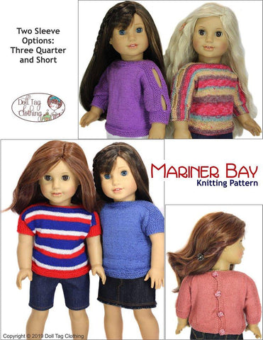 "Mariner Bay 18"" Doll Knitting Pattern"