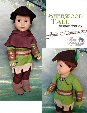 "Sherwood Tale 18"" Doll Clothes Pattern"