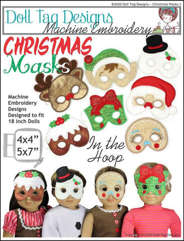 Doll Tag Clothing Machine Embroidery Design Christmas Masks Machine Embroidery Designs Pixie Faire