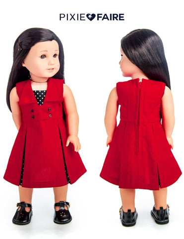 "Camille Dress 18"" Doll Clothes Pattern"