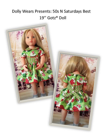 "50s N Saturdays Best 19"" Gotz Doll Clothes Pattern"