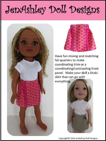 "Design Your Own Skirt 14-14.5"" Doll Clothes Pattern"