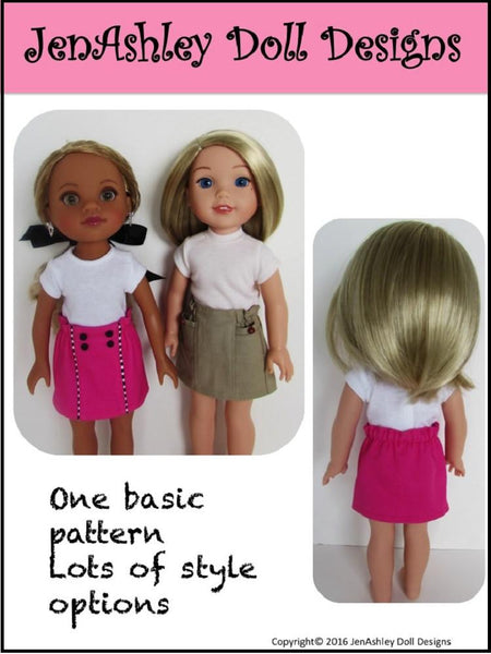 Jenashley Doll Designs Design Your Own Skirt Doll Clothes