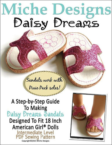 "Daisy Dreams Sandals 18"" Doll Shoes"
