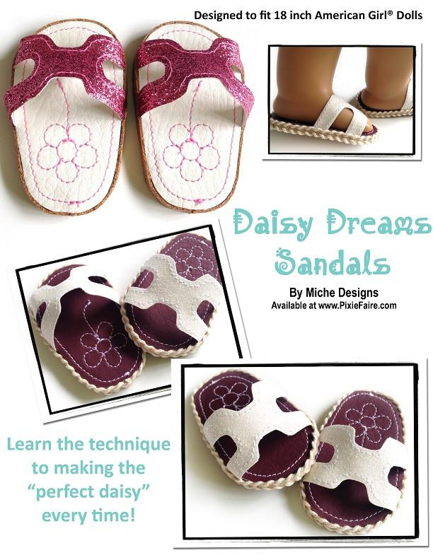Miche Designs Daisy Dreams Sandals Doll Clothes Pattern 18