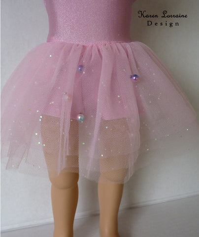 Karen Lorraine Design PDF doll clothes sewing pattern Dance Time designed to fit 16 inch A girl for all time dolls leotard tutu ballet