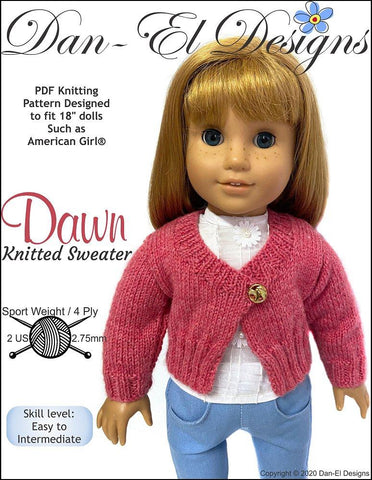 Double knitting /& 4 Ply Knitting Pattern for Elizabeth and Daniel dolls.