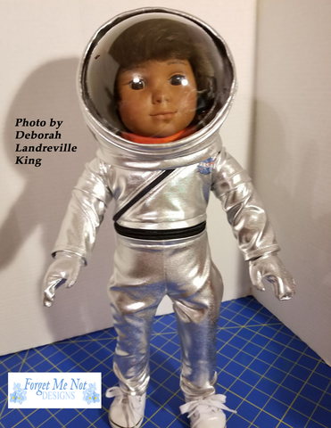 "Mercury Flightsuit 18"" Doll Clothes Pattern"
