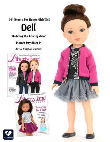 "Hearts For Hearts Girls Dell From USA 14"" Doll"