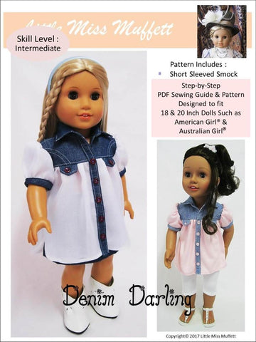 "Denim Darling 18"" Doll Clothes Pattern"