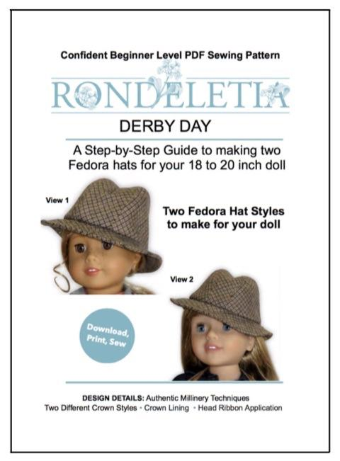 Rondeletia Derby Day Doll Clothes Pattern 18 Inch American Girl