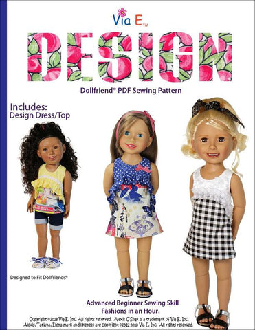 Design Doll Clothes Pattern For Dollfriends