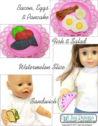 Doll Play Food Machine Embroidery Designs