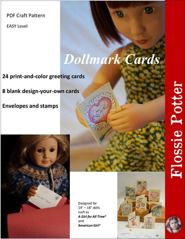 Flossie Potter 18 Inch Modern Dollmark Cards 14-18 Inch Doll Accessory Crafting Pattern Pixie Faire