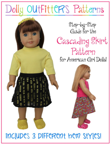 "Dolly Outfitters 18 Inch Modern Cascading Skirt 18"" Doll Clothes Pixie Faire"