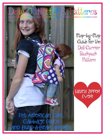Dolly Outfitters Girls Large Doll Carrier Backpack For Girls Pixie Faire