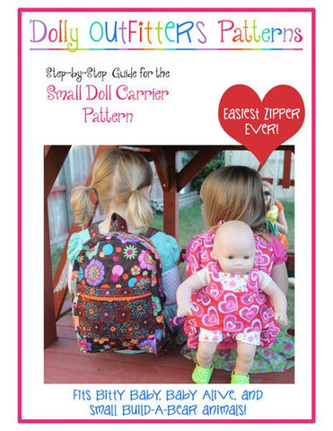 Dolly Outfitters Bitty Baby/Twin Small Doll Carrier For Girls Pixie Faire