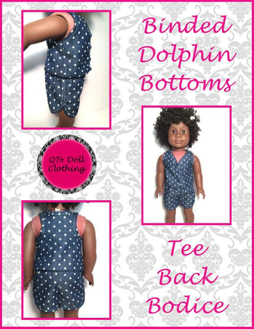 "Dolphin Romper 18"" Doll Clothes Pattern"