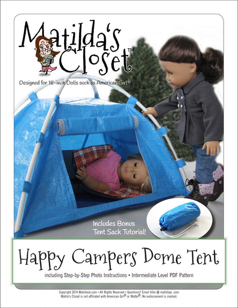 Matilda S Closet Happy Camper Dome Tent Doll Accessories