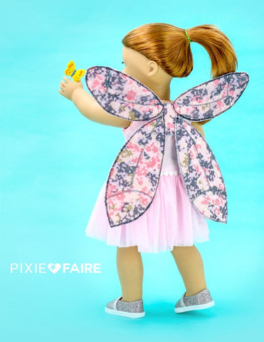 "Miss Cake's Closet 18 Inch Modern Dragonfly Fairy Wings 14- 18"" Doll Accessory Pattern Pixie Faire"