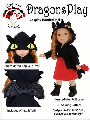 "Dragons Play 14.5"" Doll Clothes Pattern"