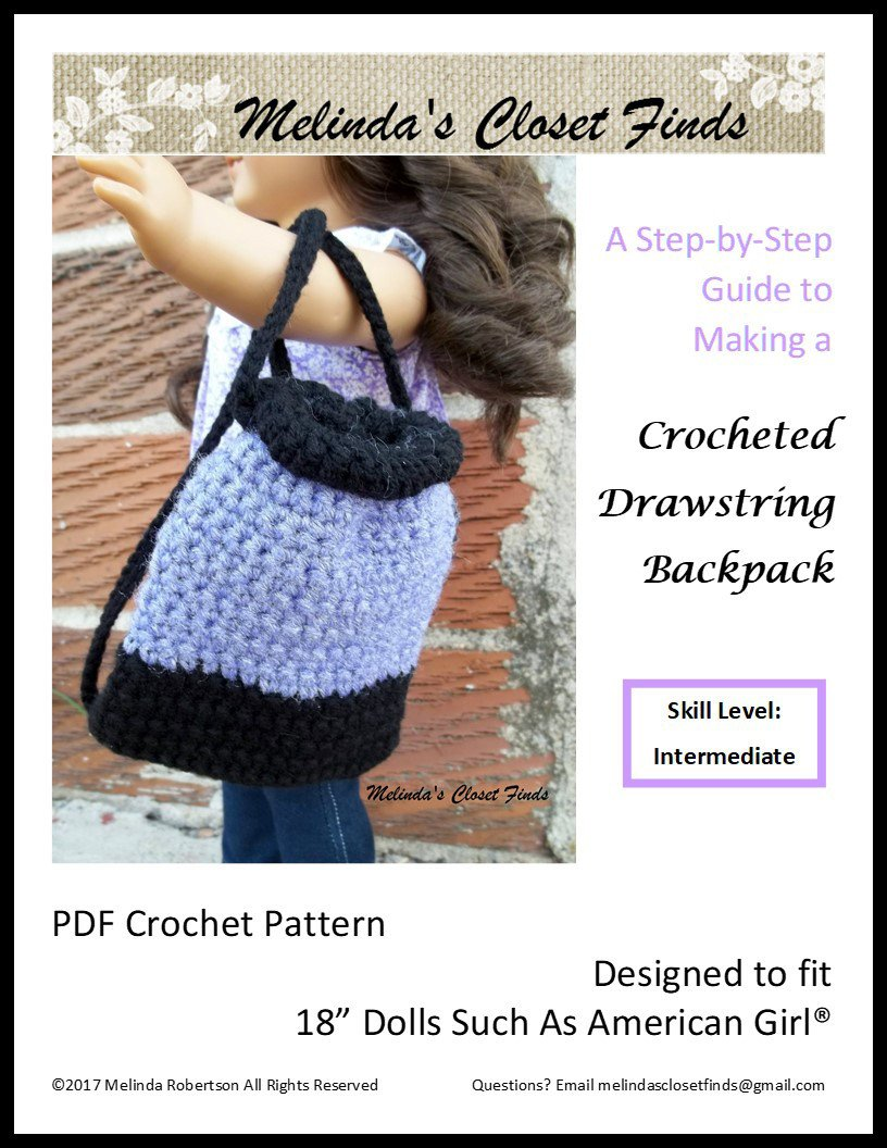 Melinda\'s Closet Finds Crocheted Drawstring Backpack Pattern 18 inch ...