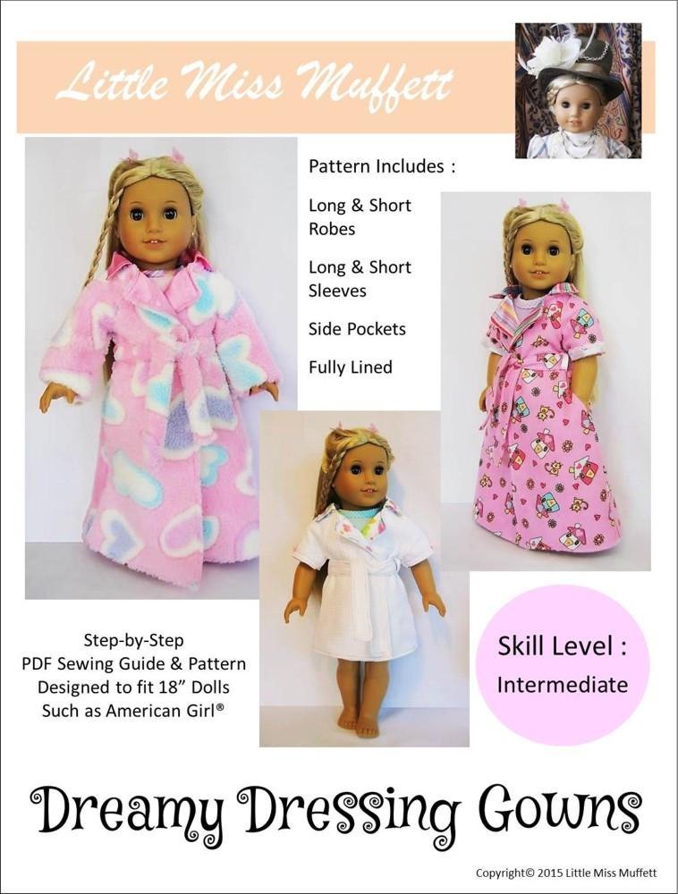 Little Miss Muffett Dreamy Dressing Gowns Doll Clothes Pattern 18 ...
