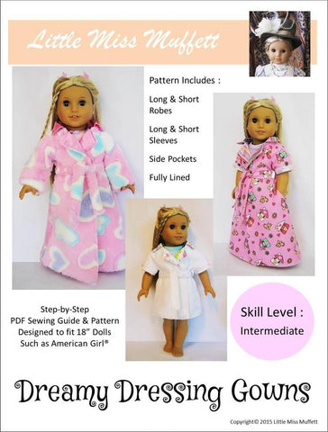 "Little Miss Muffett 18 Inch Modern Dreamy Dressing Gowns 18"" Doll Clothes Pixie Faire"