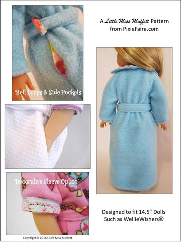 "Dreamy Dressing Gowns 14.5"" Doll Clothes Pattern"