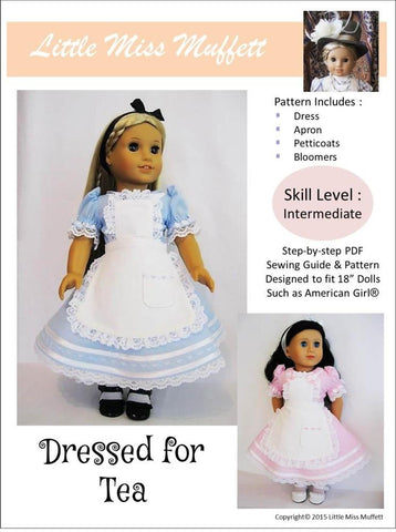 "Little Miss Muffett 18 Inch Modern Dressed for Tea 18"" Doll Clothes Pixie Faire"