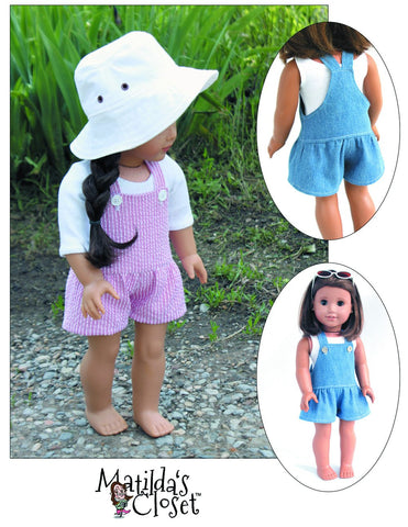 "Summer Camp Collection: Drop-Waisted Shortalls 18"" Doll Clothes"
