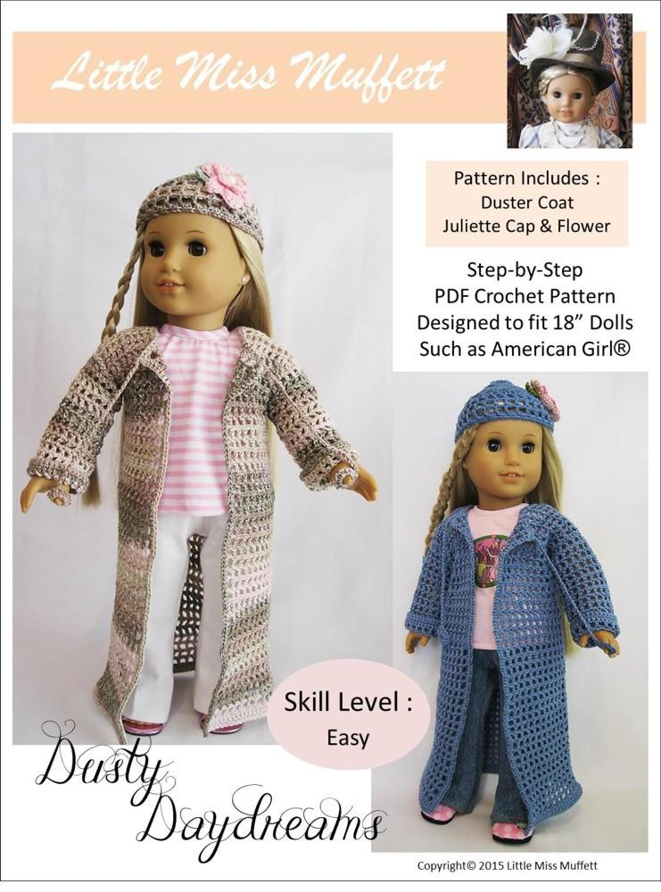 Little Abbee Spring Petal Dress Doll Clothes Pattern 18 inch ... | 1000x741
