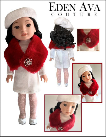 "Eden Ava WellieWishers Peppermint Snow Outfit 14.5"" Doll Clothes Pattern Pixie Faire"