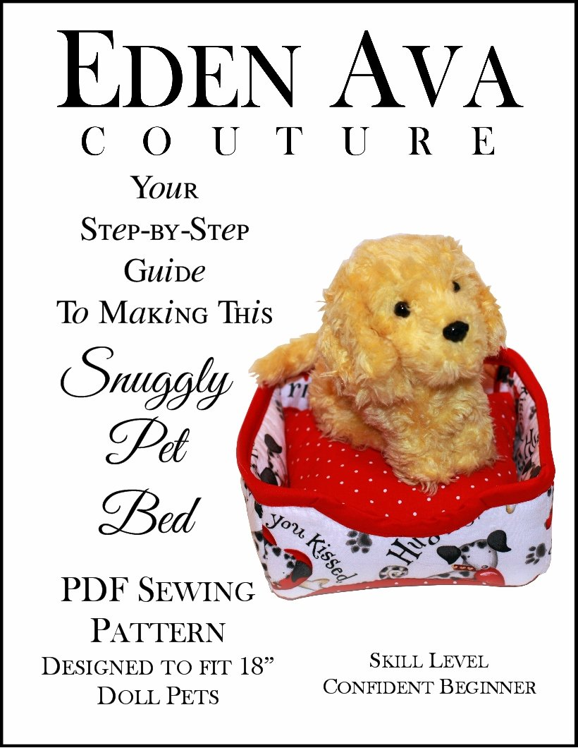 Pet Bed 18 Inch Doll Furniture Pattern Pdf Download Pixie Faire