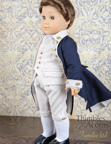 "George Washington, Commander-in-Chief 18"" Doll Clothes Pattern"