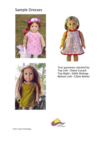 "EZ Breezy Dress 18"" Doll Clothes Pattern"