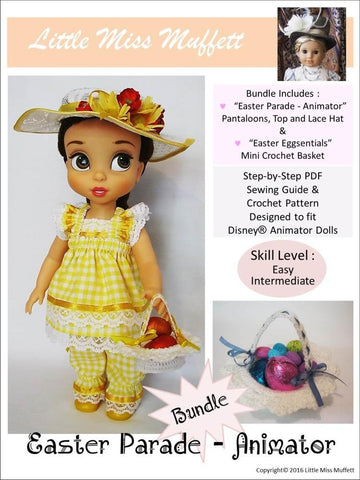Easter Parade Bundle Pattern for Disney Animator Dolls